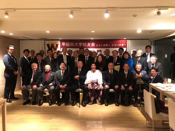 早大出身神職ら都内で新年会を 神道稲門会